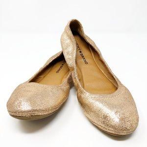 Lucky Brand Emmie Ballet Flat Rose Gold Sparkle 9M